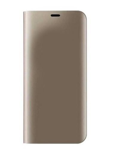 MobilCadde Eiroo Mirror Cover Samsung Galaxy J4 Aynalı Kapaklı Gold Kılıf Altın